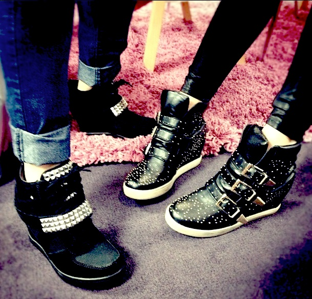 Steve Madden's sneakers are an array of twinkles and studliness