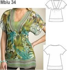patrones de blusas modernas 2014 - Buscar con Google
