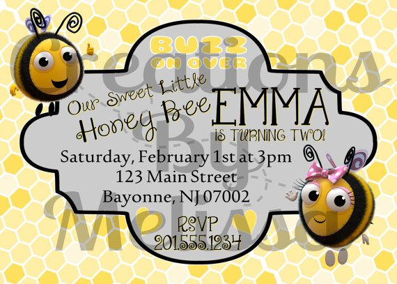 Bumble Bee The Hive Custom Birthday by CreationByMelissa on Etsy, $10.00