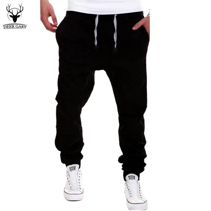 New Men Cross Pants Tether Casual Loose Jogger Pants Solid Leisure Men Sweatpants Joggers #pants #joggers #casual #men #fitnessapparel #sportswear #activewear #clothing