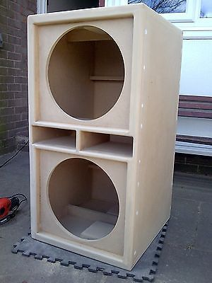 "PAIR of Double 15"" bass bins speaker boxs Soundsystem Fane PD"