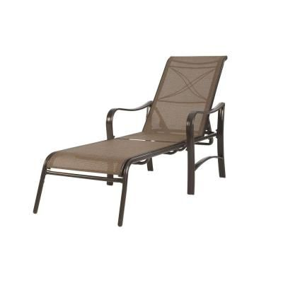 Martha Stewart Living Grand Bank Adjustable Patio Chaise Lounge-D4067-C at The Home Depot