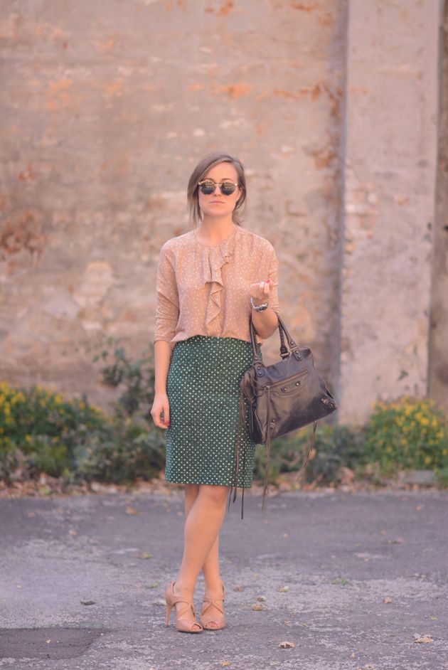 Emily wearing Rützou SS13 blouse and AW13 skirt.