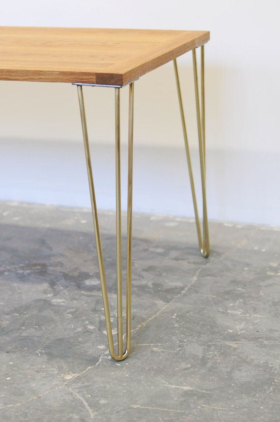 "28"" Brass Hairpin Legs- Set o"