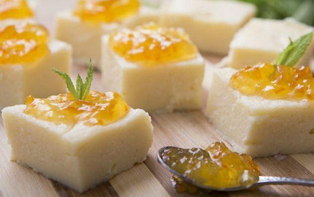 Χαλβάς ψυγείου με μαρμελάδα πορτοκάλι