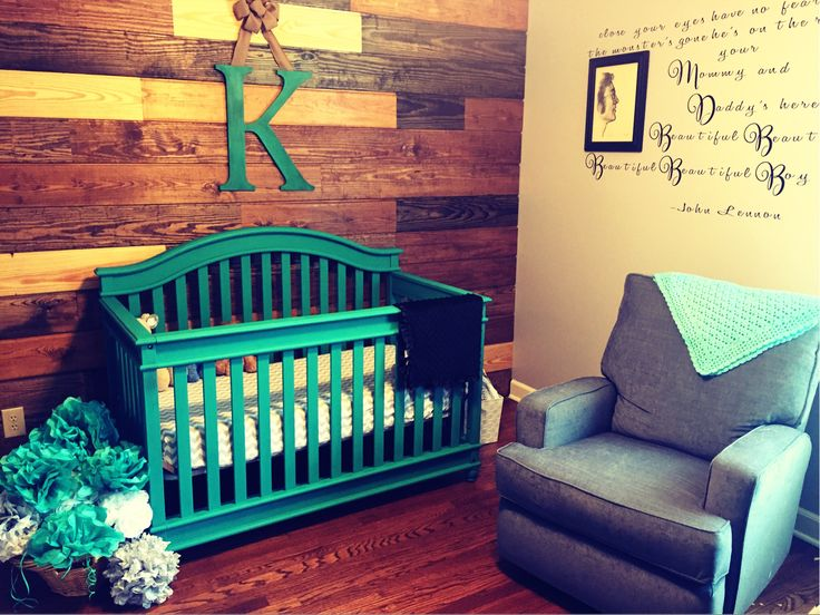 Contemporary Beatles Music Themed Nursery