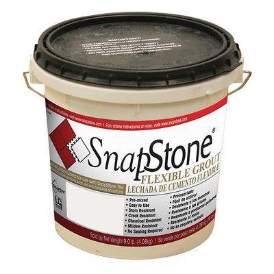 SnapStone Urethane Flexible Grout 9 Lb Pail In Antique White