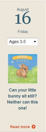 "If you have an active preschooler who never sits still, you will both enjoy ""Wee Little Bunny,"" by Lauren Thompson. Click for details."