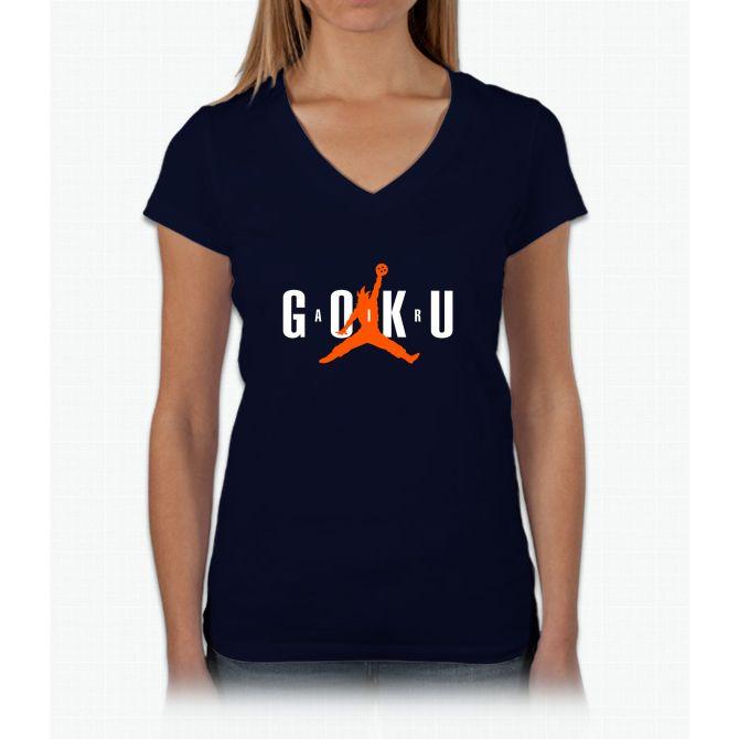 Air Goku 2 Womens V-Neck T-Shirt