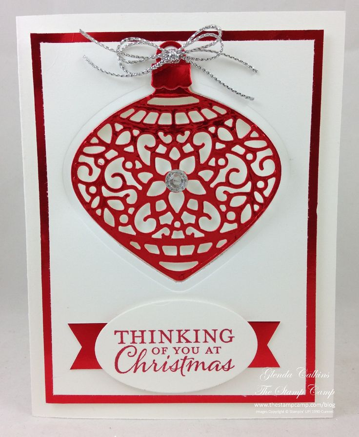 Monday, September 21, 2015 Love, Love, Love the new Red Foil paper! Isn't this just gorgeous and the red foil just shines! LOVE! This is the new Embellished Ornaments bundle; yes bundle! You get the stamp set and the coordinating...