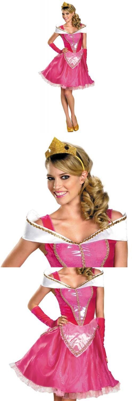 Halloween Costumes Women: Dlx Aurora Costume Adult Disney Princess Sleeping Beauty Halloween Fancy Dress -> BUY IT NOW ONLY: $38.09 on eBay!