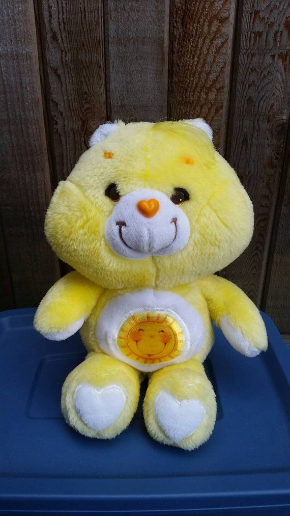 Check out this item in my Etsy shop https://www.etsy.com/ca/listing/460538614/vintage-care-bear-funshine-1983-vintage