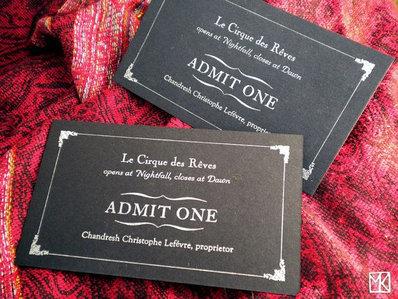 Night Circus Tickets 3 by RedgoldsparksPress on Etsy, $8.00