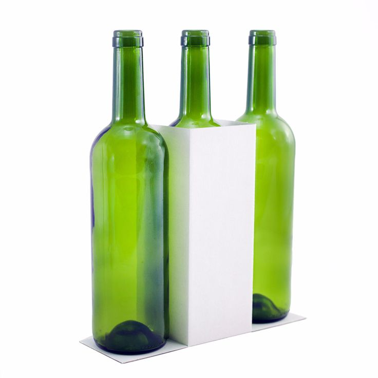 Caja de 3 botellas con asa - Black Mesh