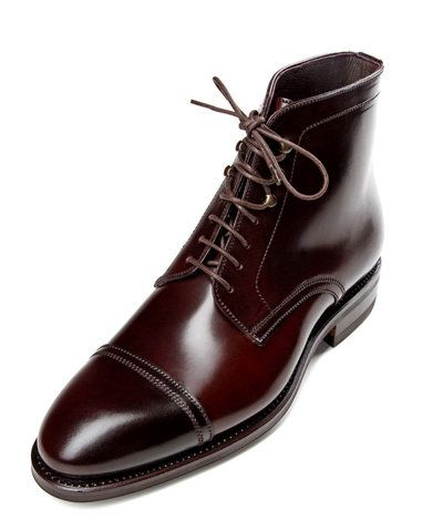 Your feet will love you wearing these burgundy shell cordovan boots. Now...what shall I wear?