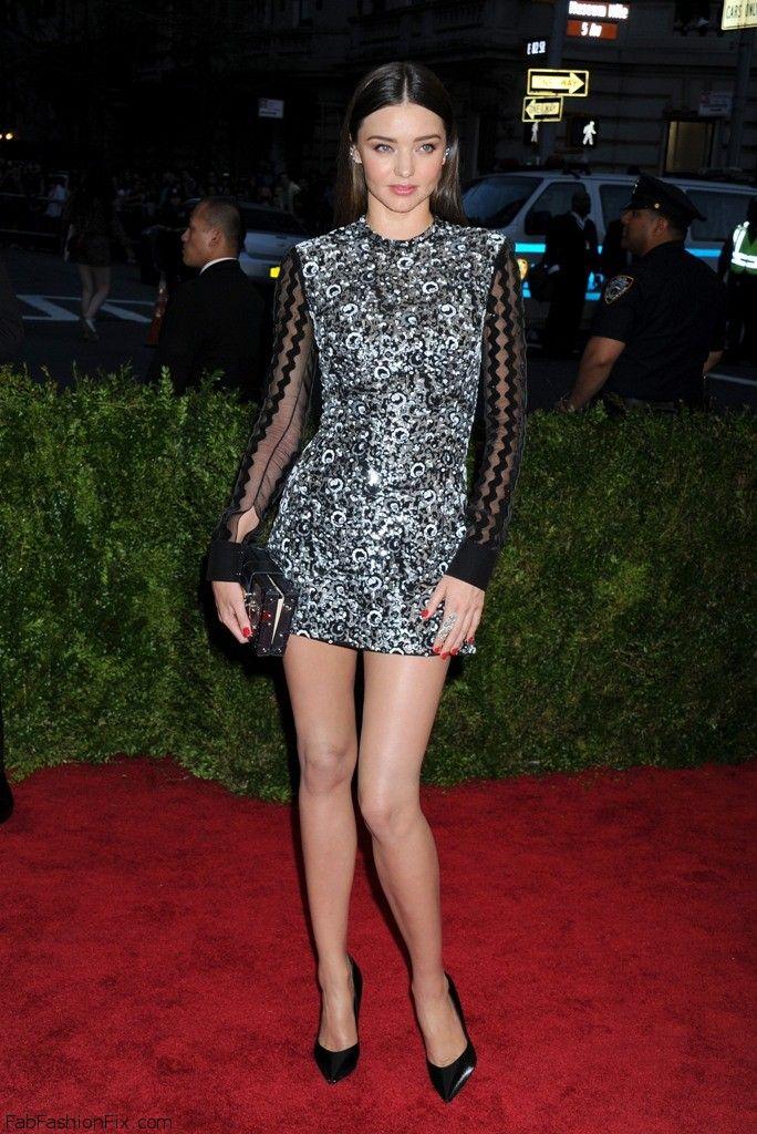 Miranda Kerr wearing Louis Vuitton metallic dress at 2015 MET Gala. #mirandakerr