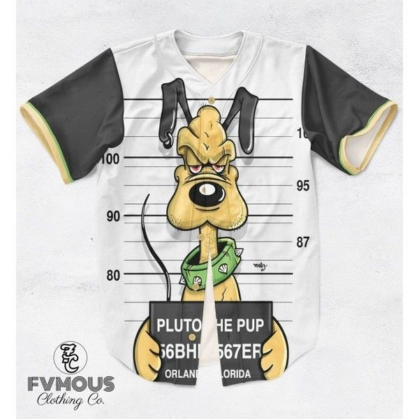 MICKEY FRIENDS MUGSHOTS (7 STYLES AVAILABLE) ($60) ❤ liked on Polyvore featuring baseball jerseys