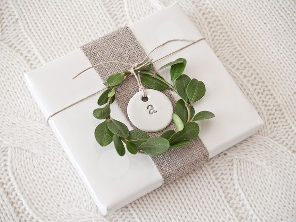 wreath + clay tag