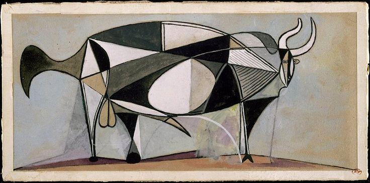 "Pablo Picasso ""Taureau"" 1945"