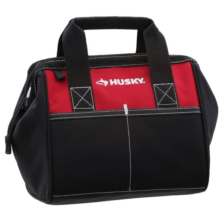 Husky 10 in. Tool Bag, Red
