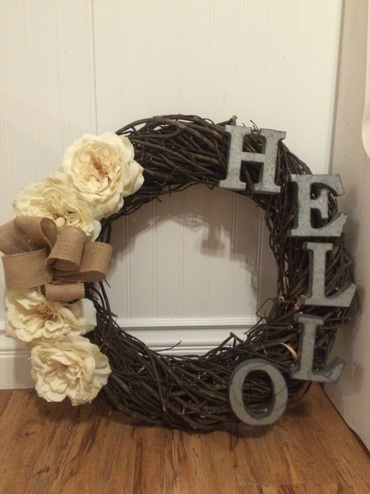 Thank you hobby lobby for letting me craft this farmhouse industrial chic wreath :)