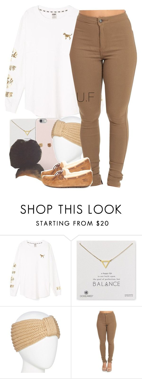"""""""."""" by renipooh ❤ liked on Polyvore featuring Victoria's Secret, Dogeared, Mixit and UGG"""