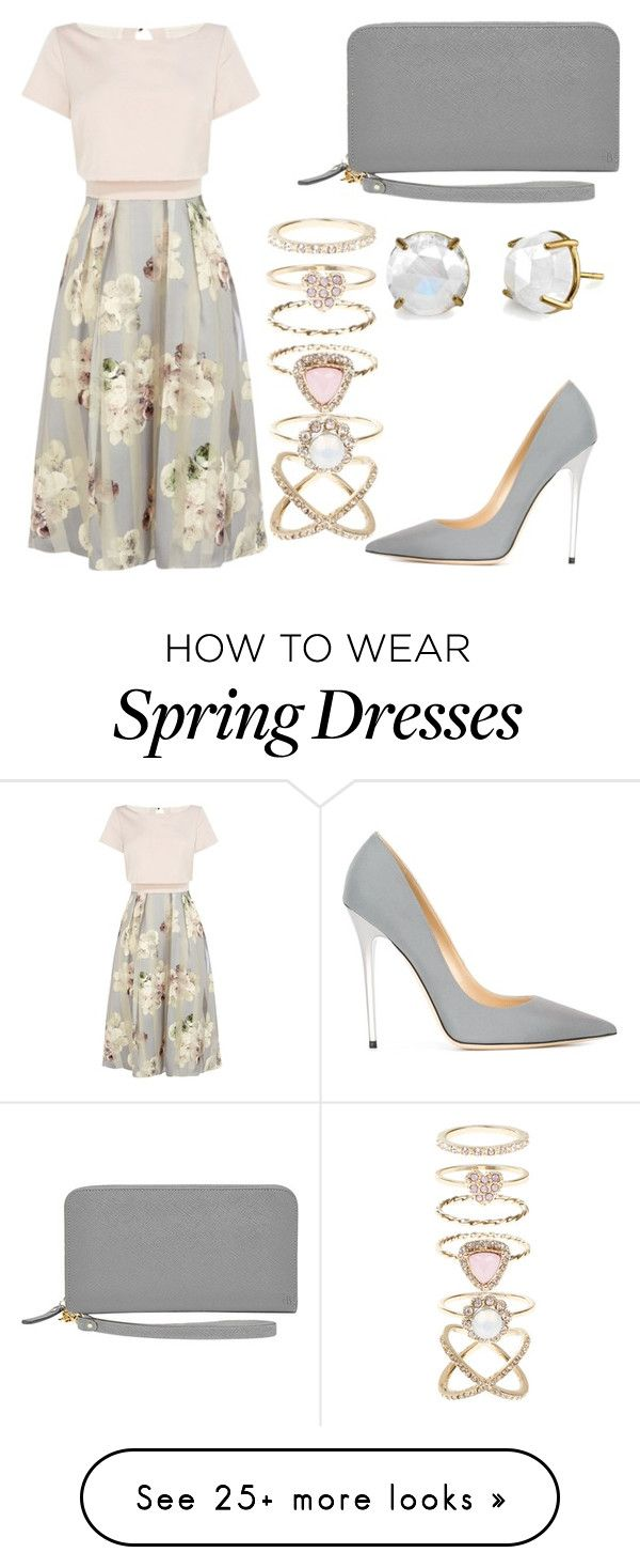 """8 45 pm spring"" by m-tunkara on Polyvore featuring Coast, Jimmy Choo, Accessorize, women's clothing, women, female, woman, misses and juniors"