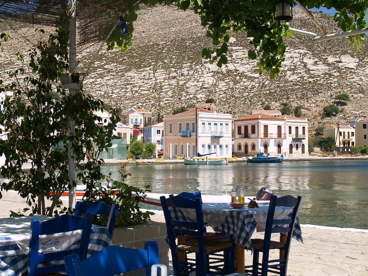 Take a seat!  Kastellorizo island, Greece.