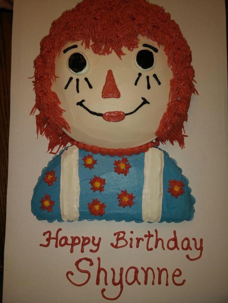 Raggedy Ann cake for my granddaughters 4th birthday.