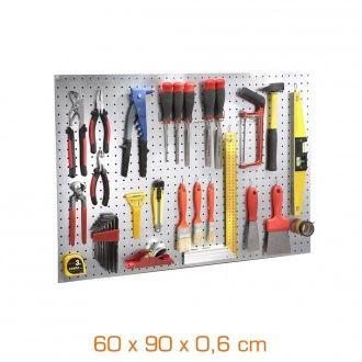 Panneau porte-outils nu - tôle galvanisée