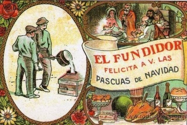 Antiguas felicitaciones navideñas - Profesiones y oficios.