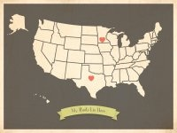My Roots USA map Children Inspire Design, since our roots are in three different cities