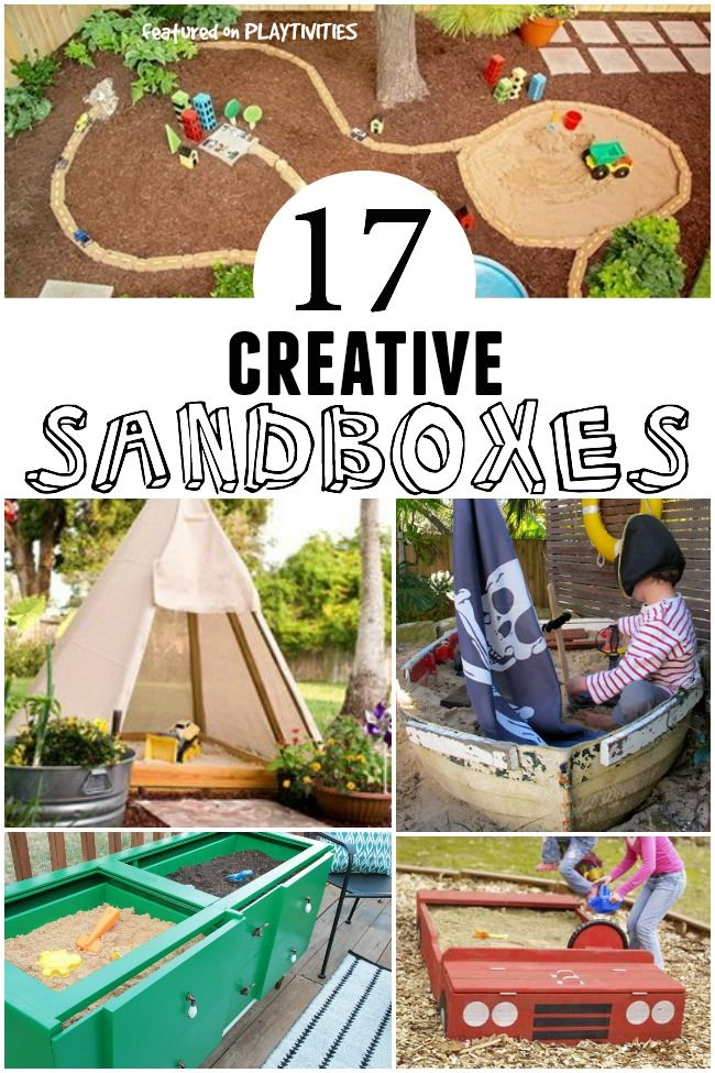 Turn a teepee, car or boat into a backyard sandbox. So fun for outdoor play!