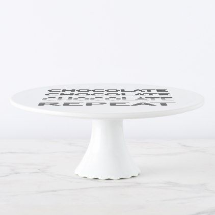 chocolate repeat strips black and white cake stand
