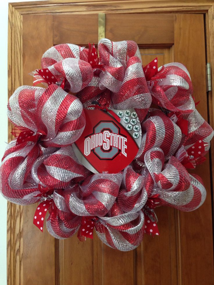 Ohio State Deco Mesh Wreath Wreaths Pinterest Deco