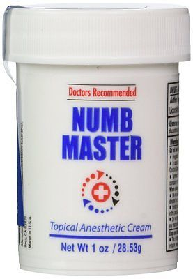 Numb Master 5 Topical Anesthetic Lidocaine Cream 1 Oz, Made in USA, Fast