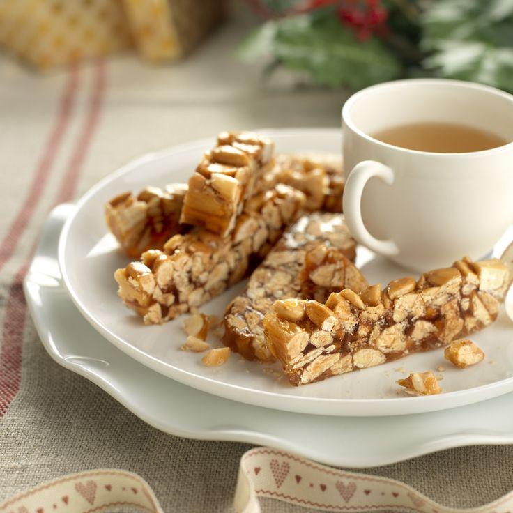 #Guirlache, dulce navideño de #almendras y caramelo