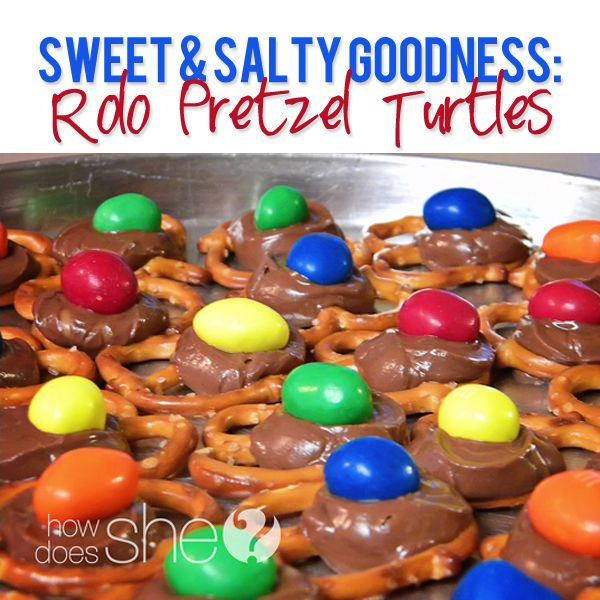 Rolo Pretzel Turtles!! My favorite quick sweet and salty treat...great for potlucks, too!