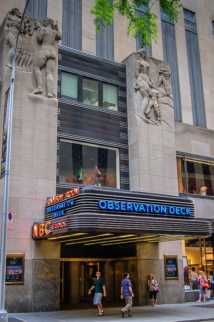 NBC Studios, GE Building at Rockerfeller Center, New York City