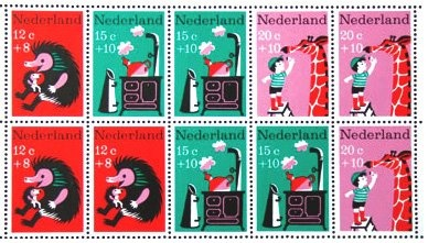 Lovely bright animal stamps from the Netherlands
