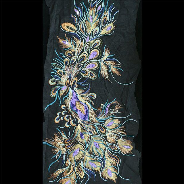 60x134 см Блесток, Бисера Аппликация Патчи Для Одежды Вышитые Аппликации Parches Bordados Патч Швейная Фурнитура AC0766