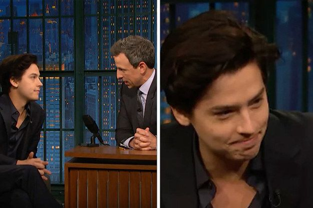 """Seth Meyers Just Apologized To Cole Sprouse For """"I Don't Know Her""""-Ing Him On His Show"""