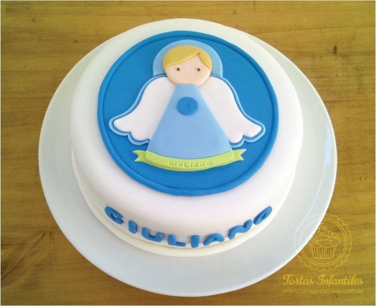 Torta de Bautismo de Angelito | Tortas Infantiles