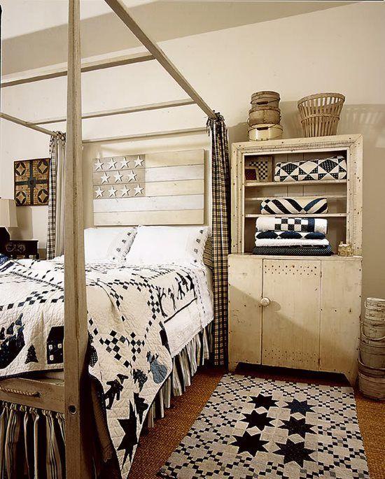✯Indigo blue and white antique quilts!