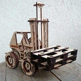 Puzzle 3D - Wózek widłowy , widlak