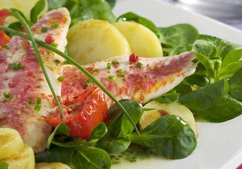 Salade de rougets marinés aux baies roses   Croquons La Vie - Nestlé