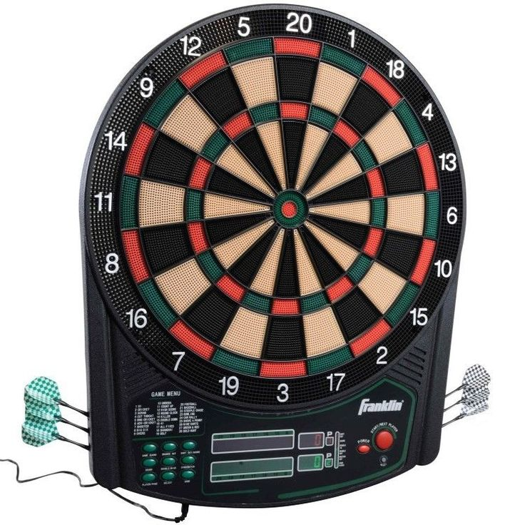 Electronic Dartboard Traditional Tournament Style Six darts Six Replacement Tips #FranklinSports
