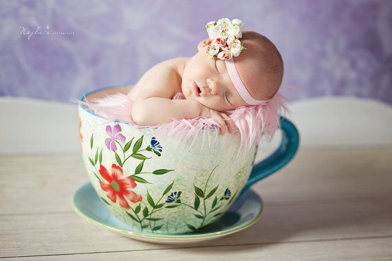 Summer flower band, baby headband, baby photography props, Baby bands-Zlata