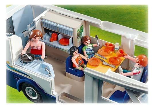 Playmobil -Grand camping-car familial - 4859 - Aménagement intérieur complet…