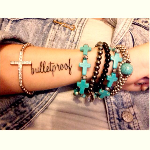 Bulletproof tattoo.  #strong #fearless #tattoos